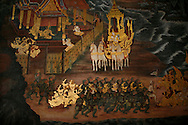 wallpainting in a thai temple