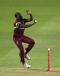 West Indies' Andre Russell during the special fundraising T20 International match at Lord's, London. PRESS ASSOCIATION Photo. Picture date: Thursday May 31, 2018. The proceeds from the match will go towards the restoration of the cricket grounds in the Caribbean following the passage of Hurricanes Irma and Maria last year. See PA story CRICKET West Indies. Photo credit should read: John Walton/PA Wire
