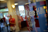 Lee Residence Hall sign.