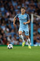 Football - 2016 / 2017 Champions League - Qualifying Play-Off, Second Leg: Manchester City [5] vs. Steaua Bucharest [0]<br /> <br /> John Stones of Manchester City during the match, at the Ethihad Stadium.<br /> <br /> COLORSPORT/LYNNE CAMERON