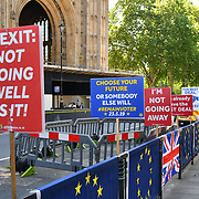 Activists continues in protest to Stop Brexit, during the European vote today 23 May 2019, Parliament Yard, London, UK.