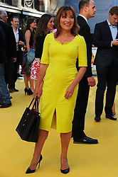 © licensed to London News Pictures. LONDON UK  11/06/15. Lorraine Kelly attends the World Premier of The Minions Movie in Liecester Square London. Please see special instructions for usage rates. Photo credit should read ALAN ROXBOROUGH/LNP