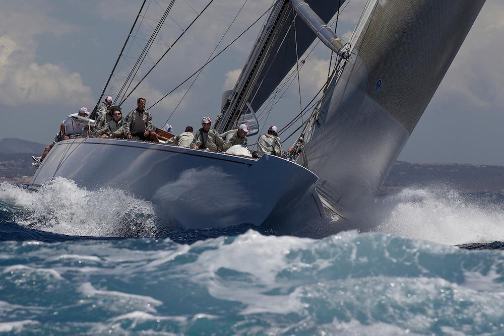 SPAIN, Palma. 19th June 2013. Superyacht Cup. J Class. Race One. Ranger.