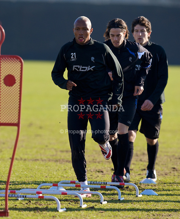 BOLTON, ENGLAND - Wednesday, February 13, 2008: Bolton Wanderers' El-Hadji Diouf during training at Euxton Lane Training Ground ahead of their UEFA Cup First Knock-out Round match against Club Atletico de Madrid. (Photo by David Rawcliffe/Propaganda)