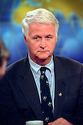 Rep. William Delahunt, member of the House Judicary committee discusses the upcoming impeachment hearings against President Clinton during NBC's Meet the Press October 11, 1998 in Washington, DC.