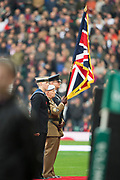 Twickenham, Surrey United Kingdom. Three services colour party. England vs Argentina. Autumn International, Old Mutual Wealth series. RFU. Twickenham Stadium, England. <br /> <br /> Saturday  11.11.17.    <br /> <br /> [Mandatory Credit Peter SPURRIER/Intersport Images]