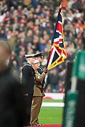 Twickenham, Surrey United Kingdom. Three services colour party. England vs Argentina. Autumn International, Old Mutual Wealth series. RFU. Twickenham Stadium, England. <br /> <br /> Saturday  11.11.17.    <br /> <br /> [Mandatory Credit Peter SPURRIER/Intersport Images]