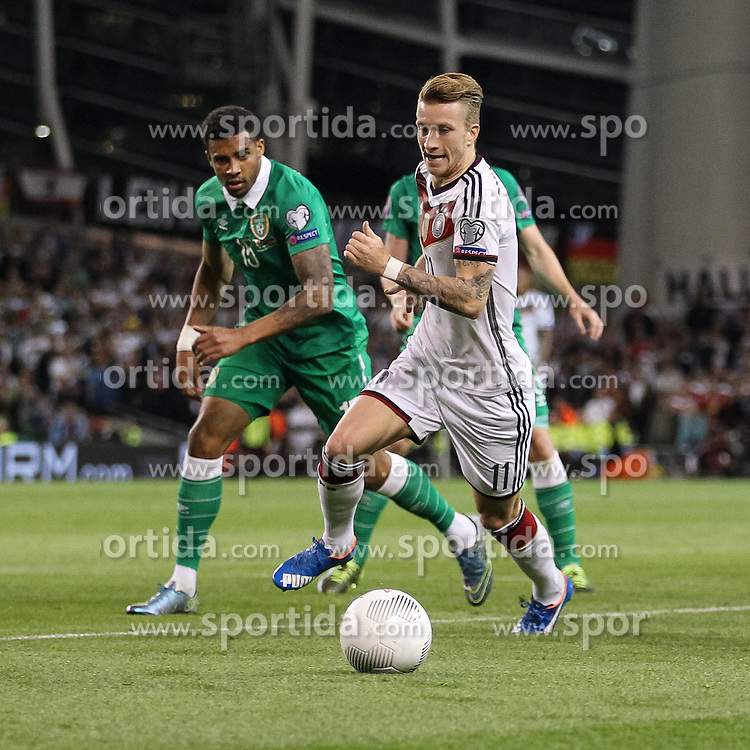 08.10.2015, Avia Stadium, Dublin, IRL, UEFA Euro Qualifikation, Irland vs Deutschland, Gruppe D, im Bild Marco Reus (Borussia Dortmund #11) // during the UEFA EURO 2016 qualifier group D match between Ireland and Germany at the Avia Stadium in Dublin, Ireland on 2015/10/08. EXPA Pictures &copy; 2015, PhotoCredit: EXPA/ Eibner-Pressefoto/ Risto Bozovic<br /> <br /> *****ATTENTION - OUT of GER*****