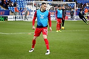 Scunthorpe Utd forward Lee Novak (17) warming up before the EFL Sky Bet League 1 match between Peterborough United and Scunthorpe United at London Road, Peterborough, England on 1 January 2019.