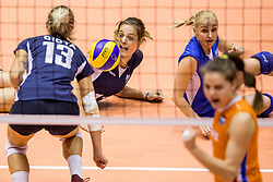 22-08-2017 NED: World Qualifications Netherlands - Greece, Rotterdam<br /> Aikaterina Giota #13 of Greece, Anthi Vasilantonaki #11 of Greece, Areta Konomi #10 of Greece