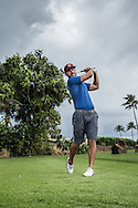 Maria Alvarez and Jordan Rodgers golf session for Lululemon