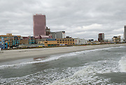 A view back at Atlantic City from the shopping pier.