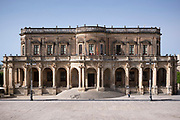 Front elevation of Palazzo Ducezio Municipio in Noto city, Sicily, Italy