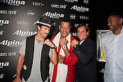 Greg Vaughn, Laurence Fishburne, and Ralph Simons, U.S. President of Frederique Constant / Alpina Watches