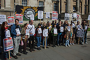 22 Apr.2015 - Staff at the National Gallery continue strike action, London