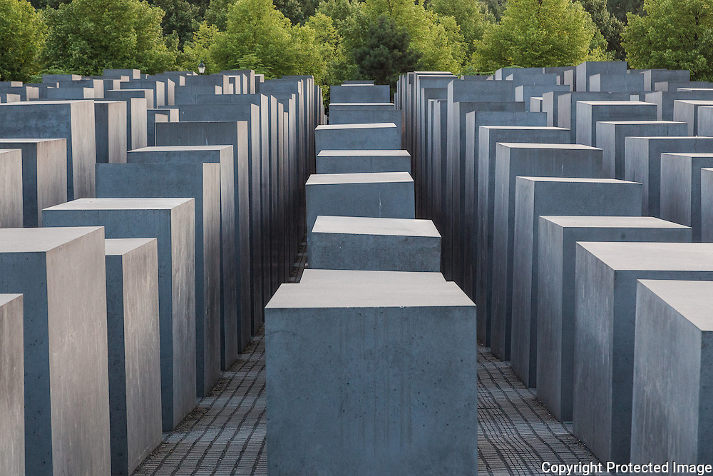 Holocaust Memorial (also known as the Memorial to the Murdered Jews of Europe), Berlin, Germany. Designed by architect Peter Eisenman and engineer Buro Happold. Built 2003-4