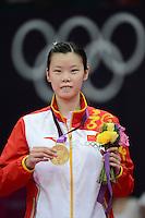 Li Xuerui, China, Wins Gold, Womens Singles, Olympic Badminton London Wembley 2012
