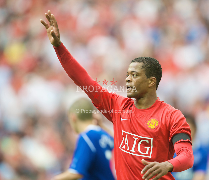 LONDON, ENGLAND - Sunday, April 19, 2009: Manchester United's Patrice Evra during the FA Cup Semi-Final match at Wembley. (Photo by David Rawcliffe/Propaganda)