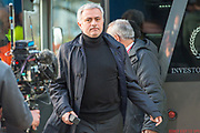 Manchester United Manager Jose Mourinho arrives for the The FA Cup match between Huddersfield Town and Manchester United at the John Smiths Stadium, Huddersfield, England on 17 February 2018. Picture by Craig Zadoroznyj.