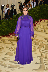Princess Beatrice of York attending the Costume Institute Benefit at The Metropolitan Museum of Art celebrating the opening of Heavenly Bodies: Fashion and the Catholic Imagination. The Metropolitan Museum of Art, New York City, New York, May 7, 2018. Photo by Lionel Hahn/ABACAPRESS.COM