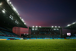 General View as the sun sets over Villa Park after the match - Mandatory byline: Rogan Thomson/JMP - 13/03/2016 - FOOTBALL - Villa Park Stadium - Birmingham, England - Aston Villa v Tottenham Hotspur - Barclays Premier League.