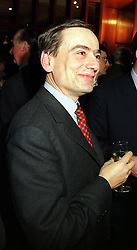 MR JOHN BRISBY QC at a reception in London on 18th January 2000.OAE 27