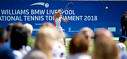 LIVERPOOL, ENGLAND - Sunday, June 24, 2018: Corporate guests watch Ellie Tsimbilakis (GBR) during day four of the Williams BMW Liverpool International Tennis Tournament 2018 at Aigburth Cricket Club. (Pic by Paul Greenwood/Propaganda)