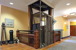 Antique elevator in Staunton Virginia historical society