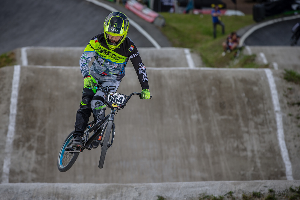 #664 (LUCAS Clement) FRA during round 4 of the 2017 UCI BMX  Supercross World Cup in Zolder, Belgium.