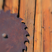 Rusted Circular Saw Blade - Bodie, CA - Lensbaby