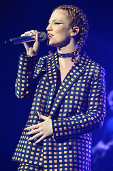 © Licensed to London News Pictures. 21/02/2016.  Jess Glynne performs at the Brixton O2 as part of a UK tour. London, UK. Photo credit: Ray Tang/LNP