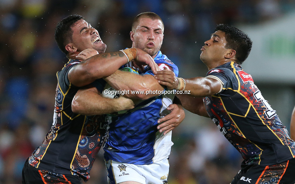 Rugby League - All Stars v Indigenous , Gold Coast 13 February 2015<br /> NRL All Stars'  Kieran Foran in action<br /> Photograph :  Jason O'Brien