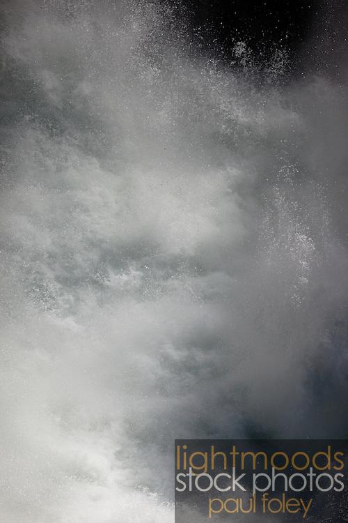 Turbulent water, Whistler, British Columbia, Canada,