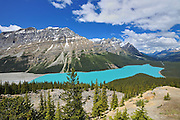 Peyto Lake and the Canadian Rocky Mountains<br /> Banff National Park<br /> Alberta<br /> Canada