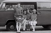 Teenagers in a VW Camper van, West London, UK, 1984
