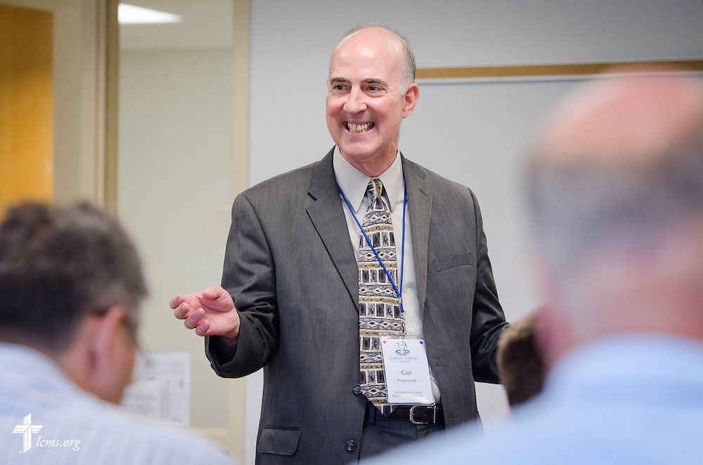 Dr. Carl C. Fickenscher II, professor of homiletics at Concordia Theological Seminary in Fort Wayne, Ind., leads a workshop during the 2014 Institute on Liturgy, Preaching and Church Music on Tuesday, July 29, 2014, at Concordia University, Nebraska, in Seward, Neb. LCMS Communications/Erik M. Lunsford