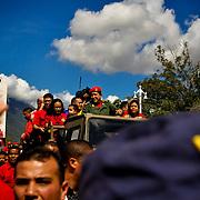 FEBRUARY 4 DAY OF DIGNITY - VENEZUELA 2010 / 4 DE FEBRERO DIA DE LA DIGNIDAD - VENEZUELA 2010<br /> Portrait of Hugo Chavez<br /> Photography by Aaron Sosa<br /> Caracas - Venezuela 2010<br /> (Copyright © Aaron Sosa)