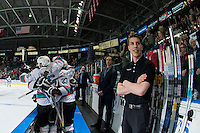 KELOWNA, CANADA - APRIL 4: Kelowna Rockets celebrate the first goal of game 7 against the Kamloops Blazers on April 4, 2016 at Prospera Place in Kelowna, British Columbia, Canada.  (Photo by Marissa Baecker/Shoot the Breeze)  *** Local Caption ***