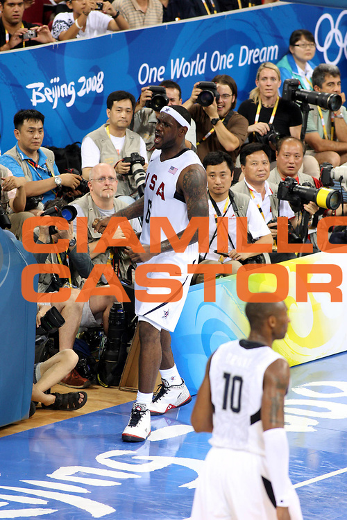 DESCRIZIONE : Beijing Pechino Olympic Games Olimpiadi 2008 Usa China<br />GIOCATORE : Lebron James<br />SQUADRA : Usa<br />EVENTO : Olympic Games Olimpiadi 2008<br />GARA : Usa China<br />DATA : 10/08/2008 <br />CATEGORIA : Esultanza<br />SPORT : Pallacanestro <br />AUTORE : Agenzia Ciamillo-Castoria/G.Ciamillo<br />Galleria : Beijing Pechino Olympic Games Olimpiadi 2008 <br />Fotonotizia : Beijing Pechino Olympic Games Olimpiadi 2008 Usa China<br />Predefinita :