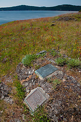 Lew and Tib Dodd Grave Site and Plaques, Yellow Island, San Juan Islands, Washington, US