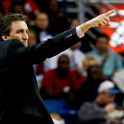 Mar 27, 2013; New Orleans, LA, USA; Los Angeles Clippers head coach Vinny Del Negro against the New Orleans Hornets during the first quarter of a game at the New Orleans Arena. Mandatory Credit: Derick E. Hingle-USA TODAY Sports