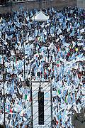 2013/03/23 Roma, manifestazione del PDL Popolo della Liberta'. Nella foto Piazza del Popolo colma di manifestanti.<br /> Rome, Popolo della Liberta' (reading The Peolple of Freedom Party) demo. In the picture Piazza del Popolo full of supporters  - &copy; PIERPAOLO SCAVUZZO