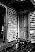 Old house photographed near Sanford, NC.  The photo was processed to emulate Kodak Panatomic B&W fine grain film.