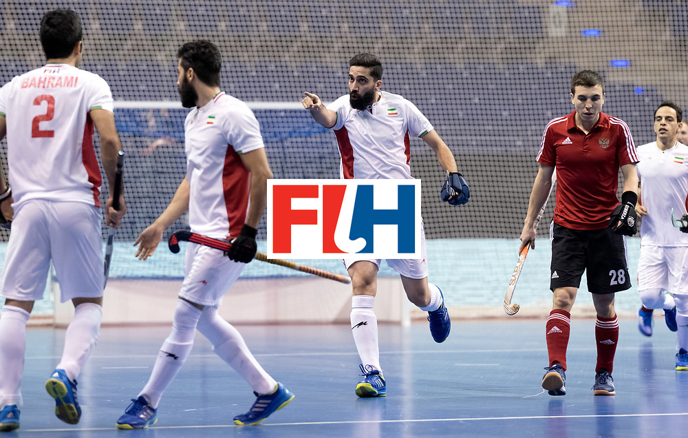 BERLIN - Indoor Hockey World Cup<br /> Men: Iran - Russia<br /> foto: GTAHERIRAD Navid celebrates.<br /> WORLDSPORTPICS COPYRIGHT FRANK UIJLENBROEK