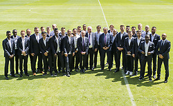 May 22, 2017 - Brussels, BELGIUM - Anderlecht's players and staff pose for the photographer ahead of a reception of Belgian soccer team RSC Anderlecht to celebrate their 34th title, Monday 22 May 2017 in Brussels. BELGA PHOTO LAURIE DIEFFEMBACQ (Credit Image: © Laurie Dieffembacq/Belga via ZUMA Press)