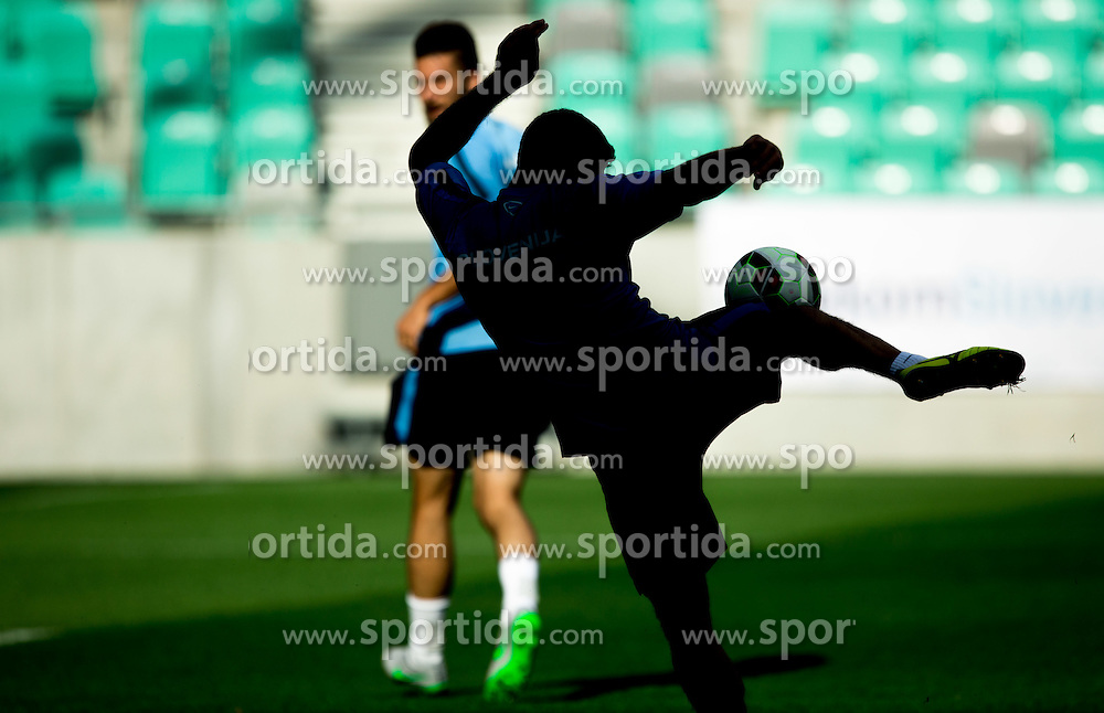 Athlete in action during practice session of Slovenian National Football Team before Euro 2016 Qualifications match against England, on June 12, 2015 in SRC Stozice, Ljubljana, Slovenia. Photo by Vid Ponikvar / Sportida