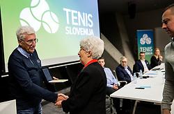 Drago Zavrsnik and wife of Anton Grosman during General Assembly of Slovenian Tennis Federation, on December 12, 2018 in Kristalna palaca, Ljubljana, Slovenia. Photo by Vid Ponikvar / Sportida