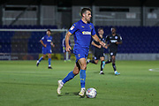 AFC Wimbledon attacker Adam Roscrow (10) dribbling during the EFL Trophy (Leasing.com) match between AFC Wimbledon and U23 Brighton and Hove Albion at the Cherry Red Records Stadium, Kingston, England on 3 September 2019.