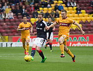 Dundee&rsquo;s Nick Ross and Motherwell&rsquo;s Allan Campbell - Motherwell v Dundee, Fir Park, Motherwell, Photo: David Young<br /> <br />  - &copy; David Young - www.davidyoungphoto.co.uk - email: davidyoungphoto@gmail.com