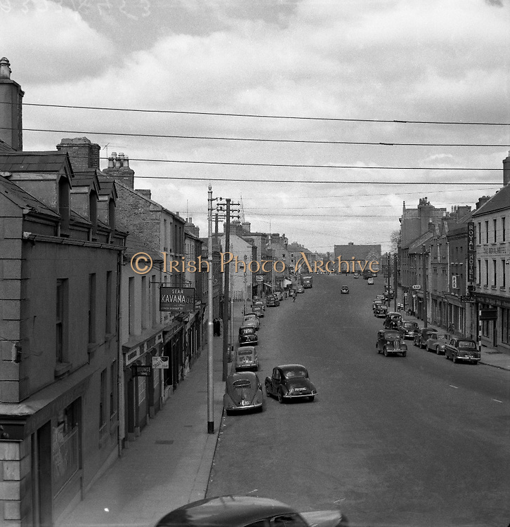 Naas, Co. Kildare - View of Main St..20/05/1957